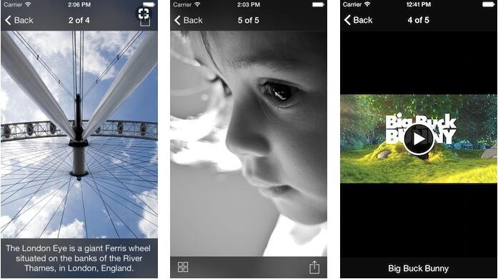 A simple iOS photo and video browser with grid view