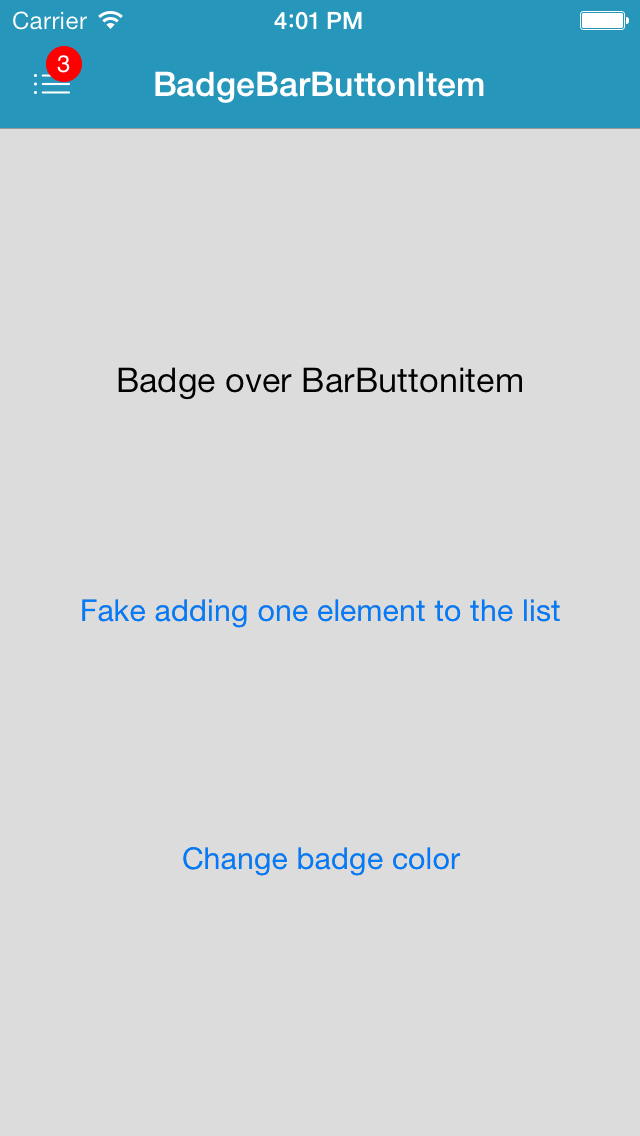 Easily customizable Create a BarButtonItem with a badge on top