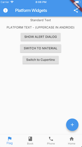 Target the specific design of Material for Android and Cupertino for