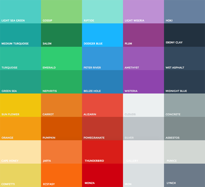 Flat Ui Color Palette Helpers Written In Swift
