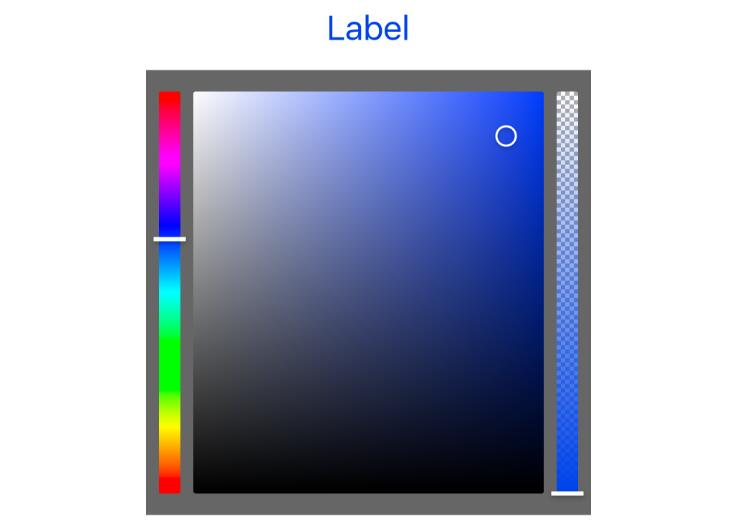 A color picker control for iOS with support for wide colors written in Swift