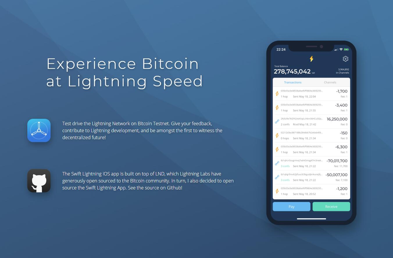 A Lightning Network light wallet implementation on native iOS using Swift