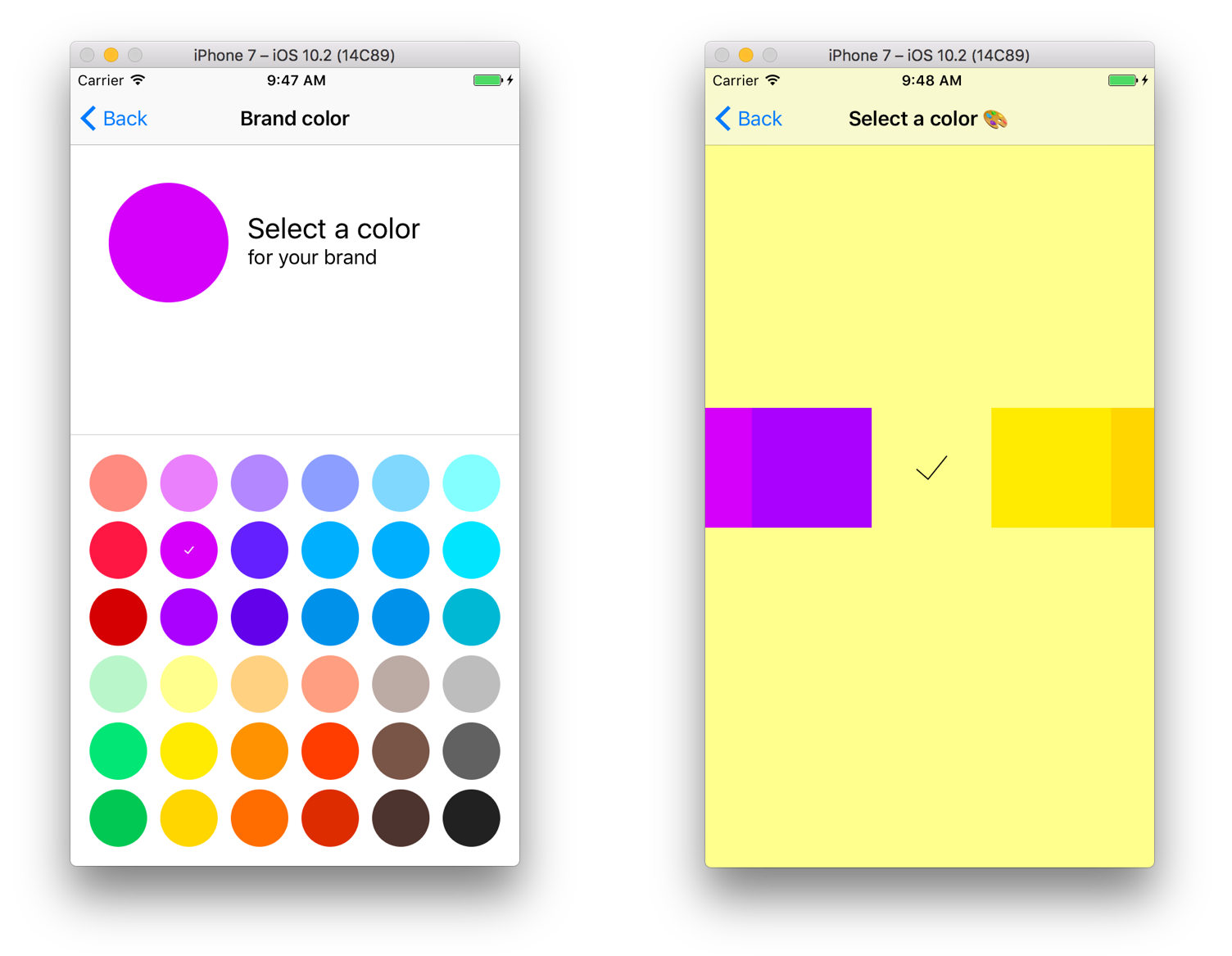 A customizable color picker for iOS in Swift