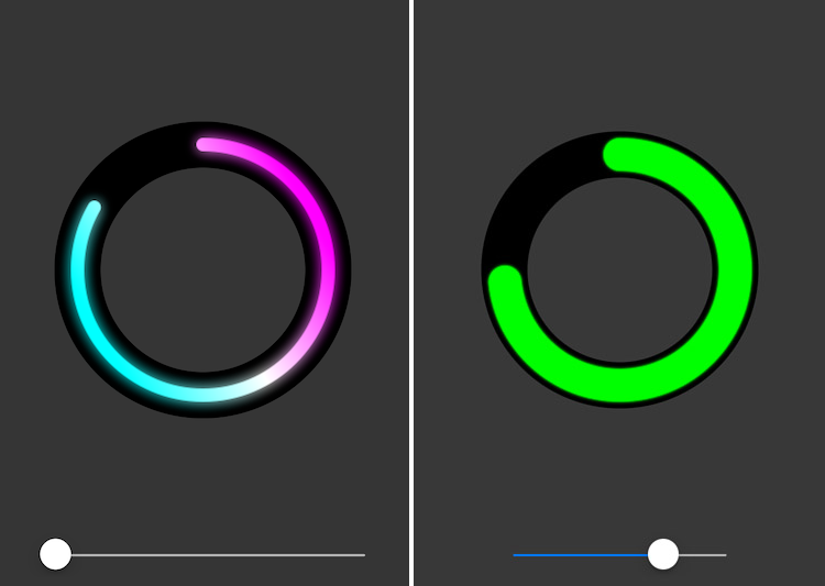 A circular progress view with gradients written in Swift