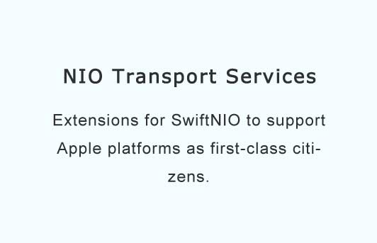 Extensions for SwiftNIO to support Apple platforms as first-class citizens