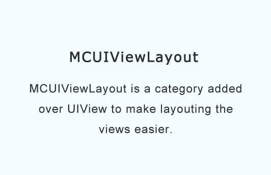 A category added over UIView to easily build layouts
