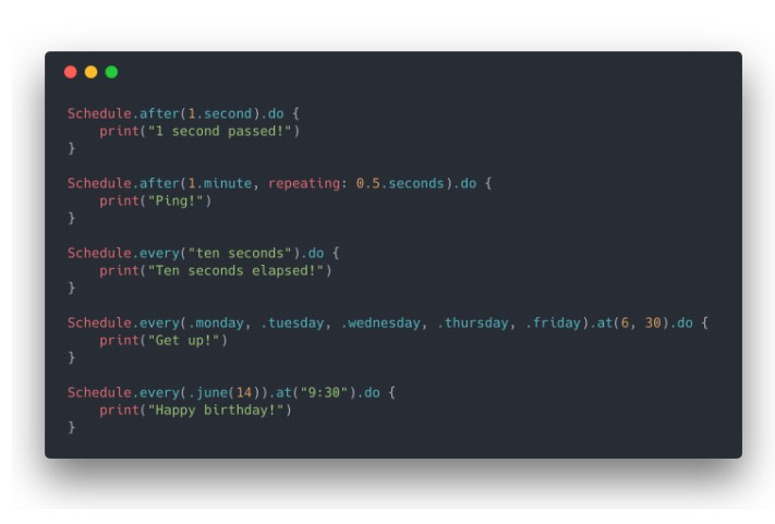 A missing lightweight task scheduler for Swift