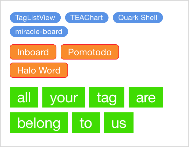 Simple and highly customizable iOS tag list view in Swift