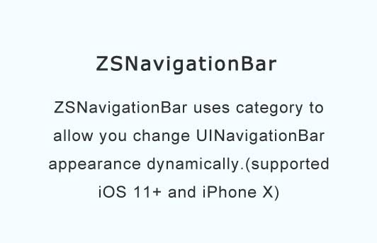 Uses category to allow you change UINavigationBar appearance dynamically