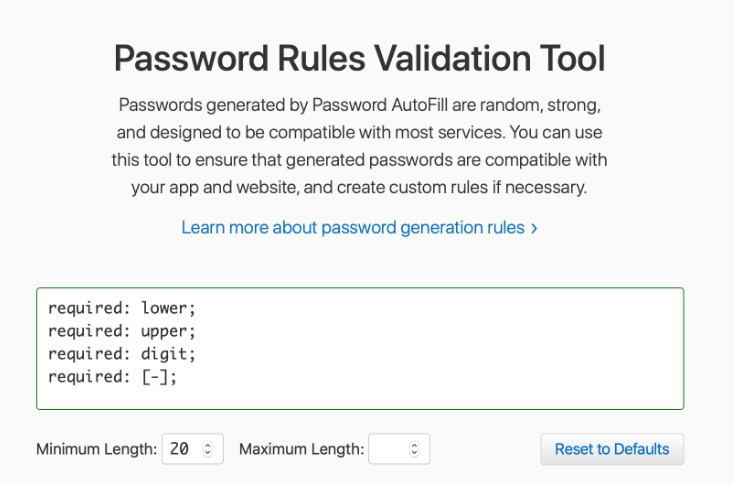 A Swift library for defining strong password generation rules