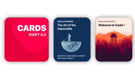 Awesome iOS 11 appstore cards in swift