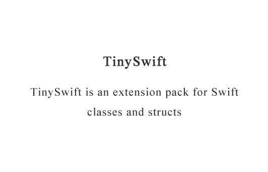 An extension pack for Swift classes and structs