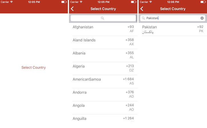 An easy way to get country data which includes the country name and dial code