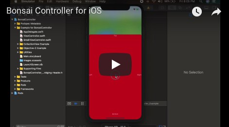Bonsai makes iOS Popup View Using Separate View Controller