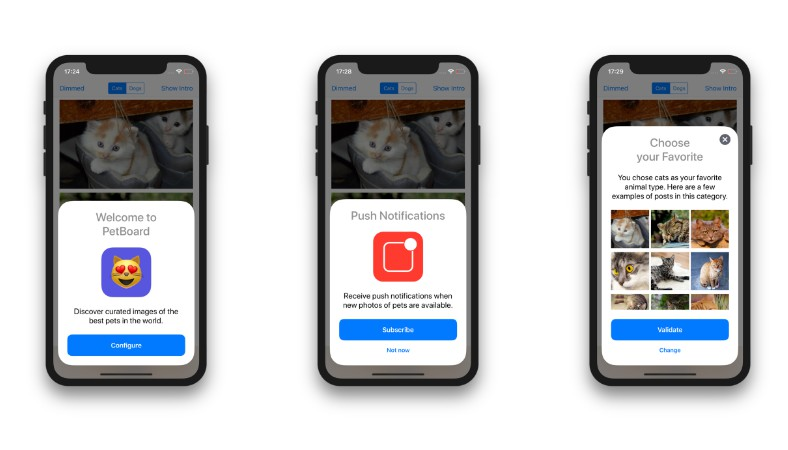 General-purpose contextual cards for iOS