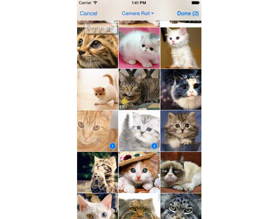 A multiple image picker for iOS