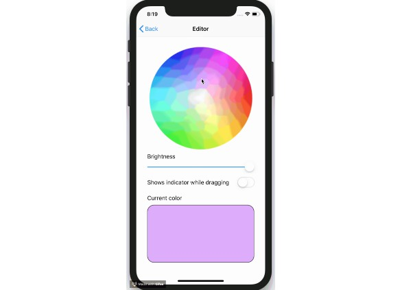 A simple color picker for iOS