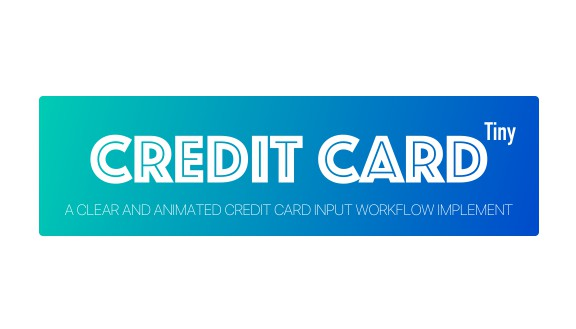 A clear and animated credit card input workflow implement
