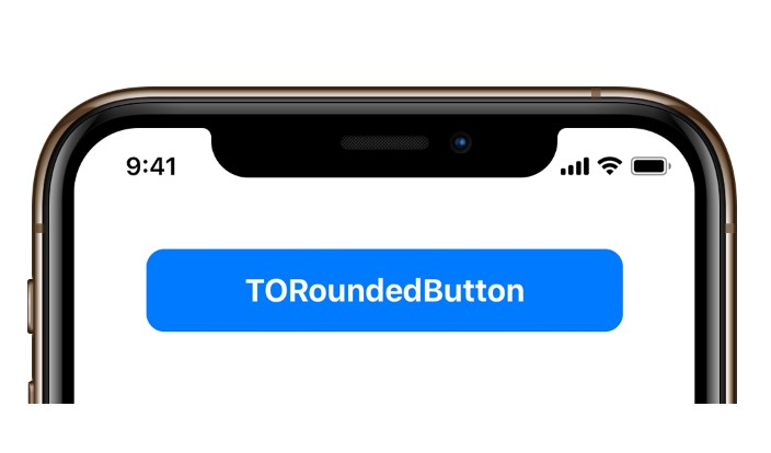 A high-performance button control with rounded corners for iOS