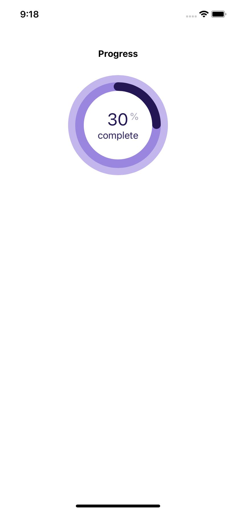 Circular progress bar with percentage