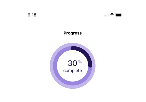 Circular progress bar with percentage