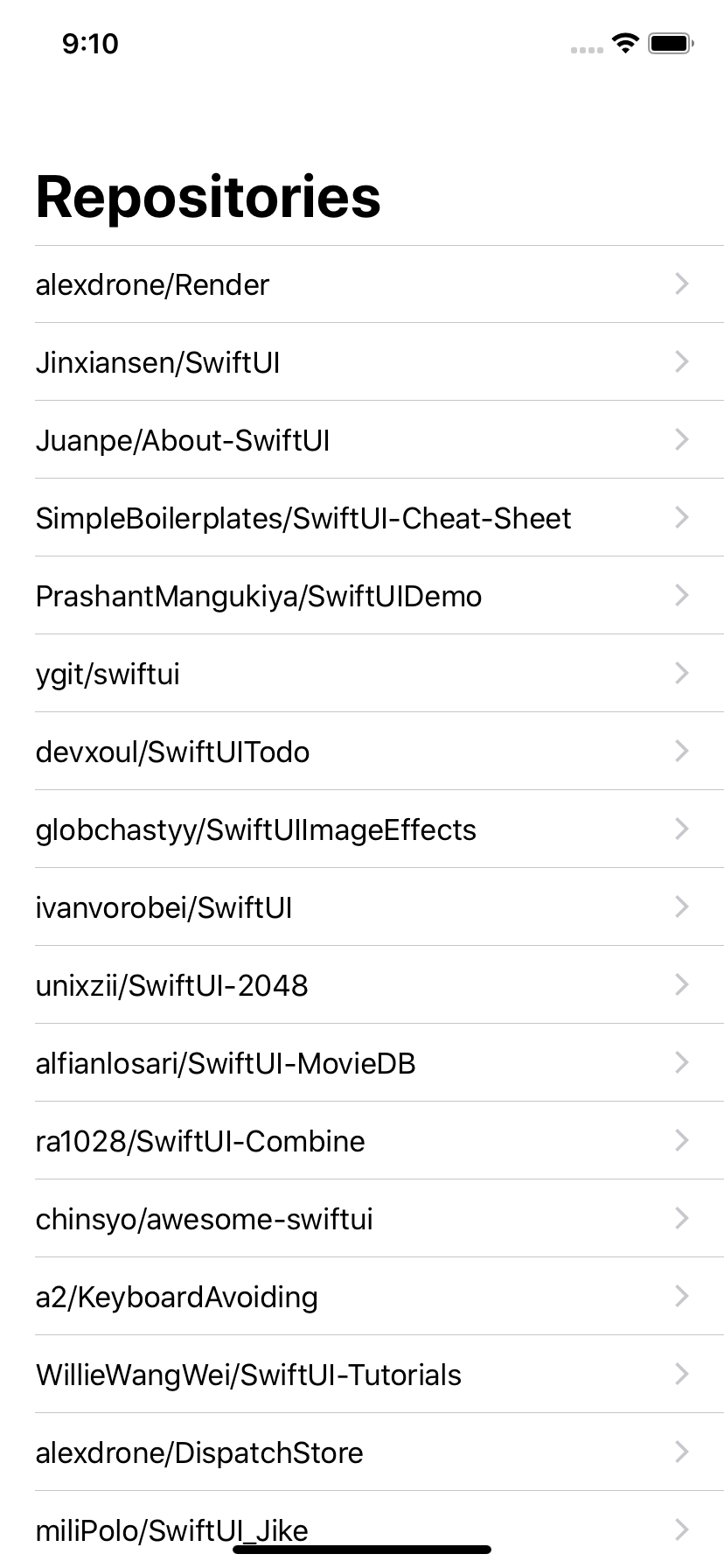 Sample iOS project built by SwiftUI + MVVM and Combine framework