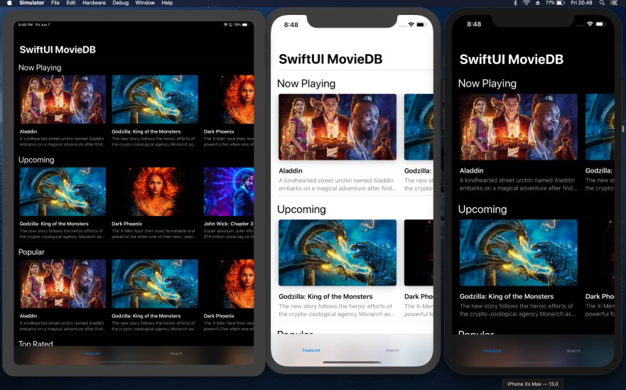SwiftUI MovieDB prototype app built with Xcode 11 Beta