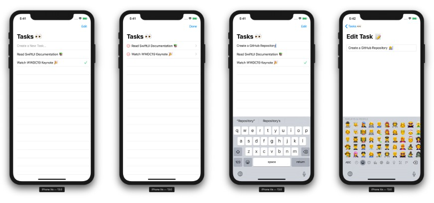 An example to-do list app using SwiftUI which is introduced in WWDC19