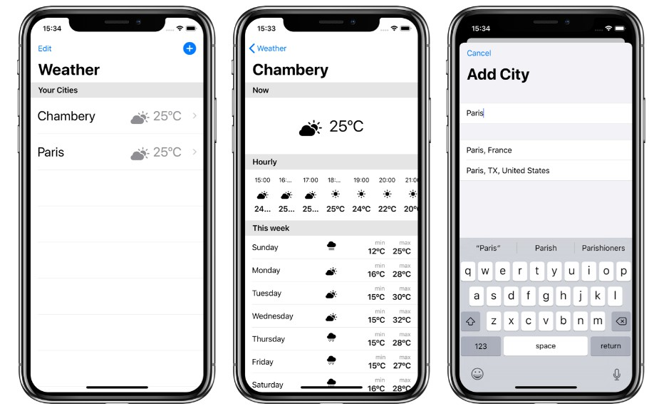 A simple app that displays weather in SwiftUI