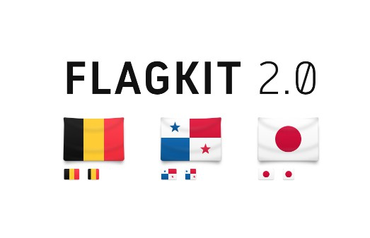 Beautiful flag icons for usage in apps and on the web