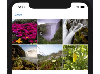 A photo select picker like LINE