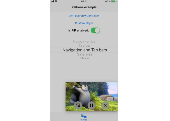 A drop in solution to support picture-in-picture on iPhone
