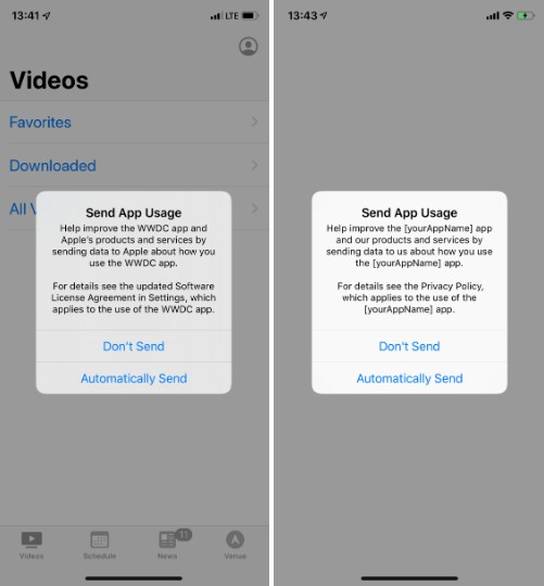 App Usage Permission Alert to comply with the new App Store Guidelines