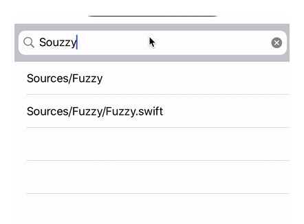 Simple and fast fuzzy string matching in Swift