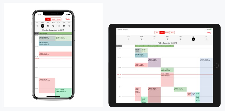 A most fully customization calendar library with swift