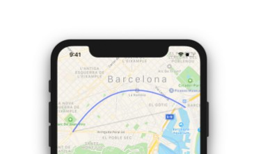 Drawing curvy routes with MapKit with iOS
