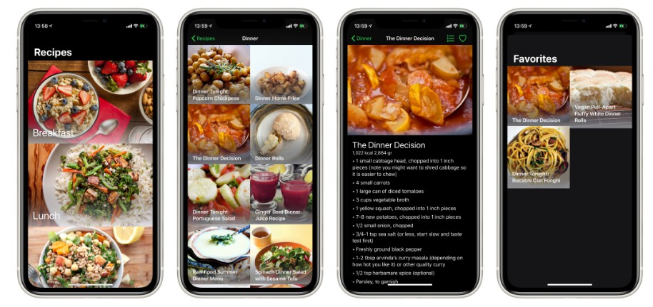 Recipes app written in SwiftUI using Single State Container