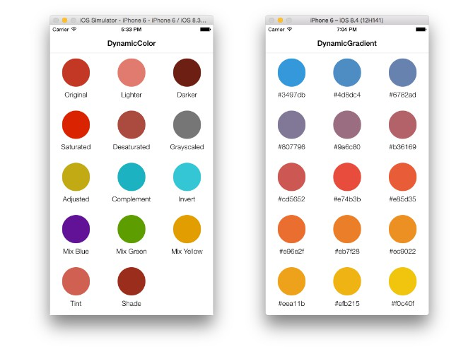 Extension to manipulate colors easily in Swift