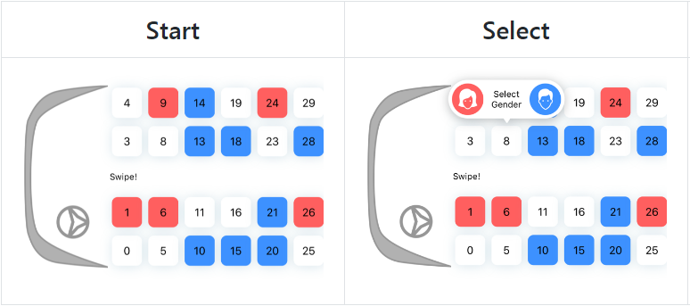 Bus Seat View Selection with swift