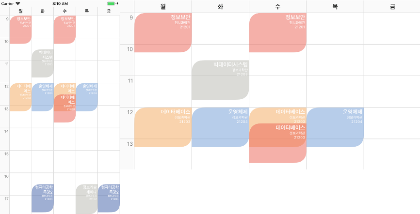 Simple library to generate Timetable of University