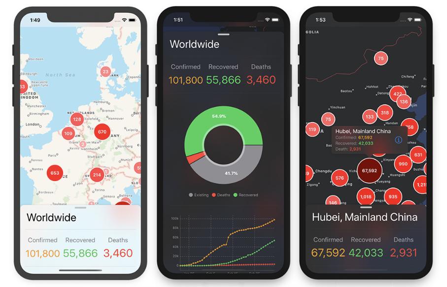 Corona Tracking App