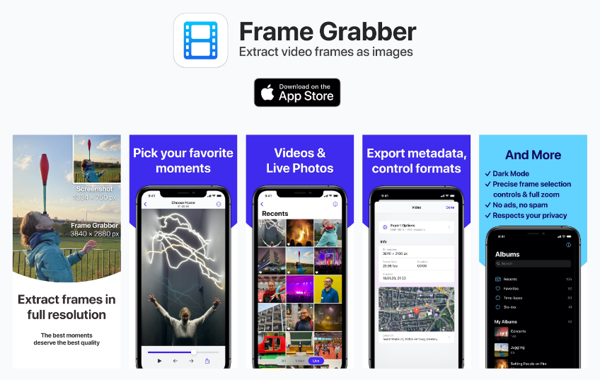 Ios App To Extract Full Resolution Video Frames As Images
