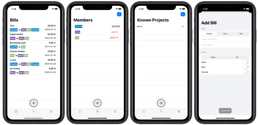 iOS client for Cospend on Nextcloud