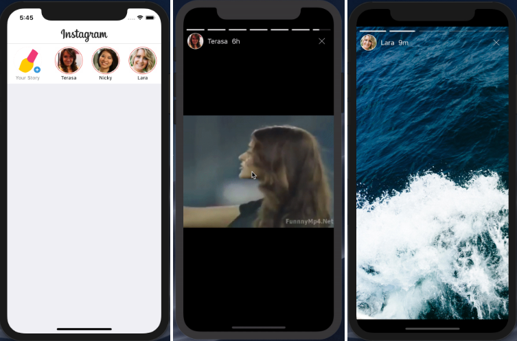 Instagram Stories functionality with swift