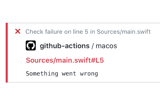 GitHub Actions workflow logging for Swift