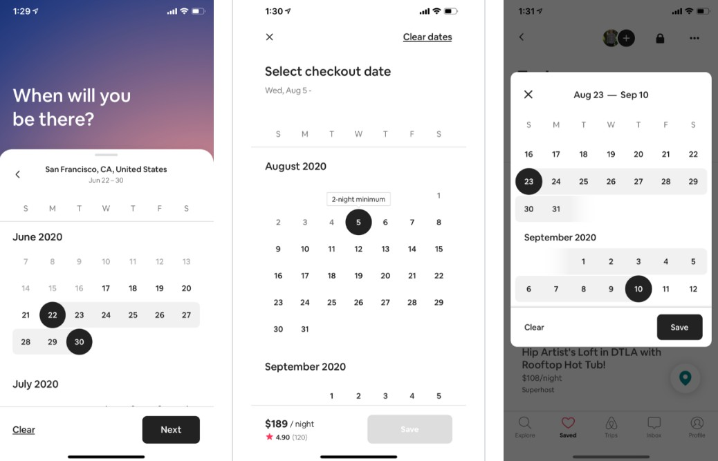 An awesome iOS calendar component with Airbnb