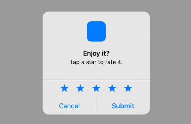 Request rating by 1-5 stars with swift