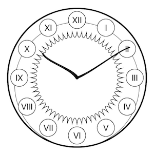 ClockViewArtNouveau