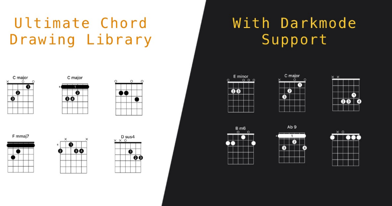 A guitar chord diagram drawing library built in Swift